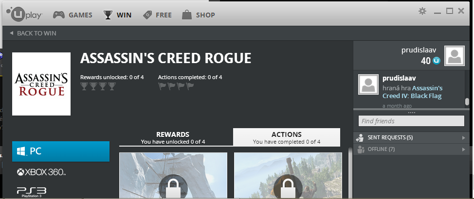 Free to Play | Assassin's Creed: Rogue'un PC Sürümü uPlay ...